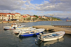 Waterfront of Hvar town, Hvar island Royalty Free Stock Image