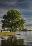 Waterfront Kampen, River IJssel Royalty Free Stock Photos