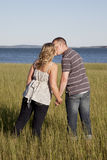Waterfront kiss Royalty Free Stock Photo