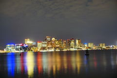 City of Boston. Waterfront landscape of city of Boston Stock Images