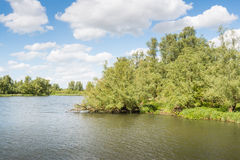 Waterfront of a large nature reserve on a sunny day Stock Photography