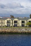 Waterfront Living. A row of modern homes on a waterfront location, Port Adelaide, South Australia Stock Images