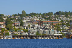Waterfront Living on Lake Union Royalty Free Stock Photos