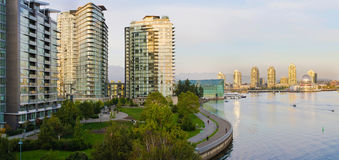 Waterfront Living in Vancouver BC Stock Photos