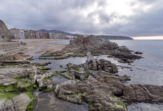 Waterfront of LLoret de Mar Costa Brava Stock Photos