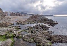 Waterfront of LLoret de Mar Costa Brava Stock Photos