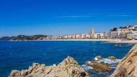 Waterfront of LLoret de Mar Costa Brava Spain Royalty Free Stock Image