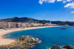Waterfront of LLoret de Mar Costa Brava Spain Royalty Free Stock Images