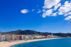 Waterfront of LLoret de Mar Costa Brava Spain Royalty Free Stock Photo