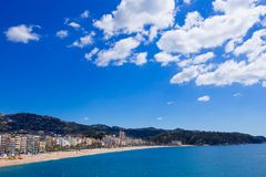 Waterfront of LLoret de Mar Costa Brava Spain Royalty Free Stock Image