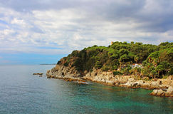 Waterfront of Lloret de Mar, Costa Brava, Spain Royalty Free Stock Photo