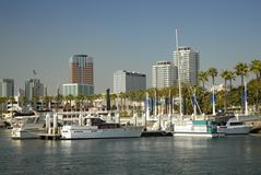 Waterfront of Long Beach, California Royalty Free Stock Photo