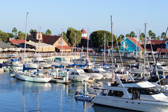 Waterfront of Long Beach in Los Angeles metropolitan area Royalty Free Stock Photos