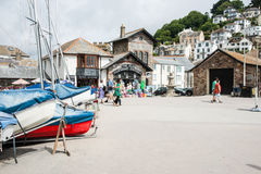 Waterfront at Looe, Engalnd. Royalty Free Stock Image