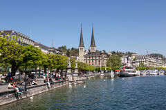 Waterfront of Lucerne Royalty Free Stock Photography
