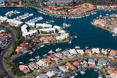 Waterfront Luxury Canal Estate Stock Photography