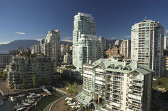 Waterfront luxury condos. In Vancouver Stock Photography