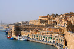 Waterfront of Malta. Waterfront, a part of the grand harbour of Valletta,  Malta Royalty Free Stock Photo