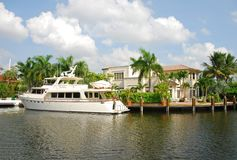 Waterfront mansion Stock Photography