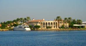 Waterfront mansion Stock Image