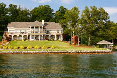 Waterfront Mansion Boat House, Play Set stock photo