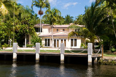 Waterfront Mansion On The Sea. Millionaire' S Esta Stock Image