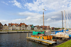 Waterfront and marina at Glueckstadt Stock Photo