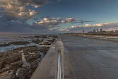 The waterfront in Mouille Point, Cape Town, South Africa. royalty free stock photo