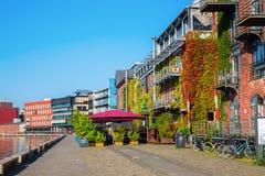 Waterfront Muenster in Muenster, Westphalia, Germany Royalty Free Stock Photo