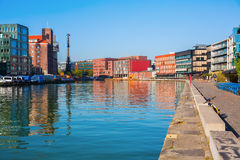 Waterfront Muenster in Muenster, Westphalia, Germany Royalty Free Stock Photography