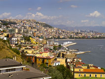 Waterfront of Naples Italy Stock Image