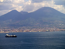 The Waterfront of Naples Italy Royalty Free Stock Photo