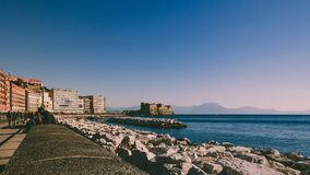 Waterfront of Naples stock image