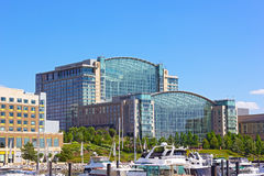 A waterfront of National Harbor in summer, Maryland, USA. Stock Image