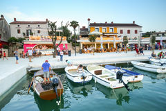 Waterfront in Njivice Royalty Free Stock Photography