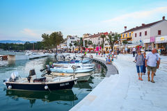 Waterfront in Njivice Royalty Free Stock Images