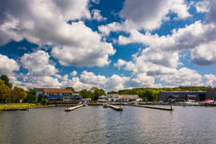 The waterfront in North East, Maryland. Royalty Free Stock Photography
