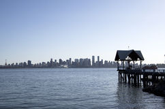 Waterfront North Vancouver stock image