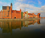 Old City in Gdansk with harbor canal Royalty Free Stock Photography