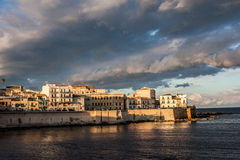 Waterfront of Ortigia, Italy Royalty Free Stock Photography