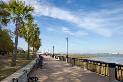 Waterfront Park in Charleston, SC. View of Waterfront Park in Charleston, SC. Plenty of copy space in the sky if needed royalty free stock images