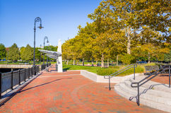 Waterfront Park on Clear Autumn Day Stock Image