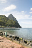 Waterfront Park  Soufriere St. Lucia Stock Images