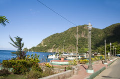 Waterfront Park  Soufriere St. Lucia Caribbean Royalty Free Stock Photography