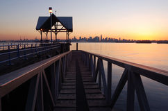 Waterfront park at sunset. North vancouver Stock Photo