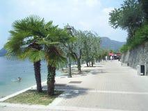 Waterfront path Garda Italy Stock Photography