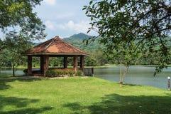Waterfront pavilion at 7 kot Lake. Beautiful waterfront pavilion at 7 kot Lake in Saraburi Province,Thailand stock image