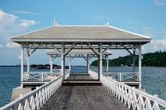 Waterfront pavilion Royalty Free Stock Photos