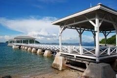 Waterfront pavilion Stock Image