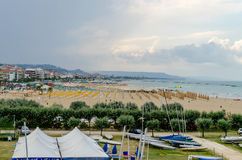Waterfront of Pescara on the Adriatic Sea, Italy Stock Image